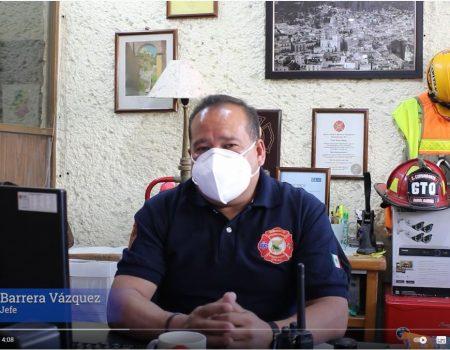 CONTINUA LA CAMPAÑA DE RECARGA DE OXIGENO DEL CUERPO DE BOMBEROS DE GUANAJUATO CAPITAL