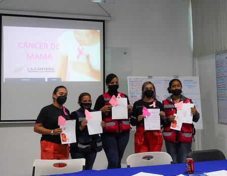 La Cantera realiza dinámicas de concientización sobre el cáncer de mama