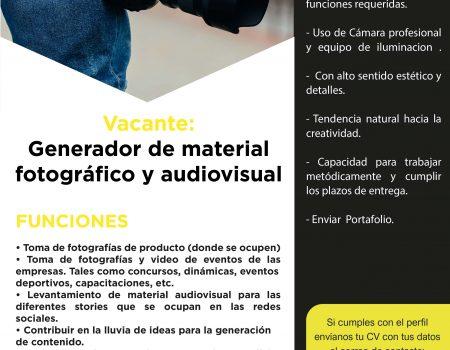 Generador de material fotográfico y audiovisual